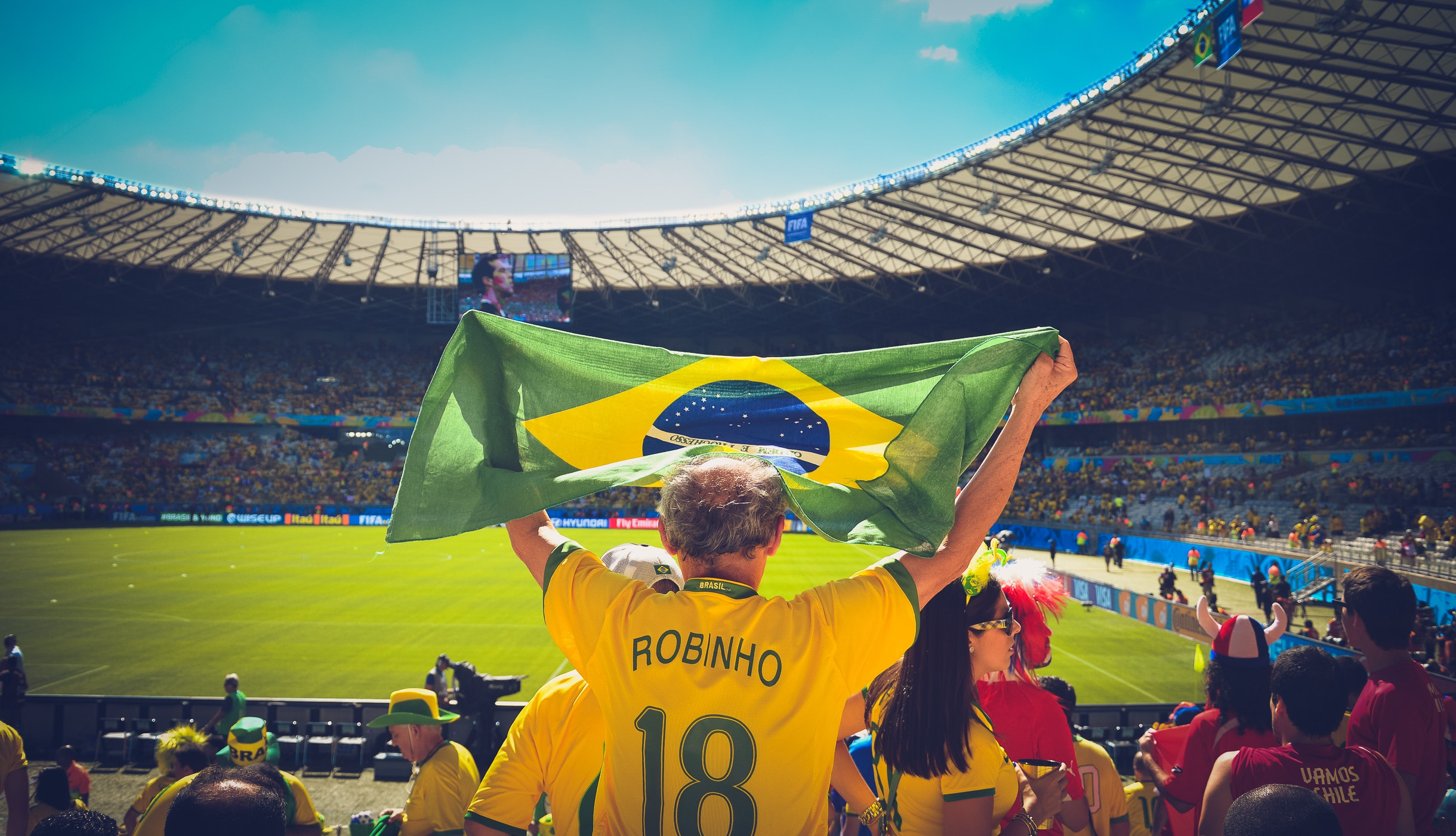 Photo of People are cheering for the Brazilian team